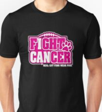 I Can Fight BREAST CANCER Real CAT Fans Wear Pink  T-Shirt