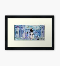 Corto Maltese with cats  Framed Print