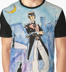 Corto Maltese with cats  Graphic T-Shirt