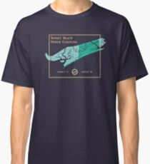 Sunset Beach, NC map by The Sandpiper Shirt Co. Classic T-Shirt