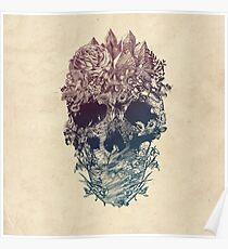 Skull Floral Poster