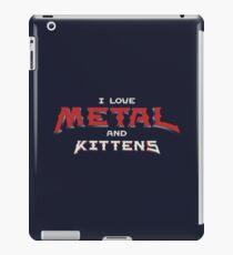 I Love Metal And Kittens iPad Case/Skin