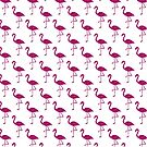 Sparkly flamingo Pink glitter sparkles pattern by PLdesign