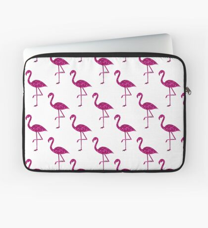 Sparkly flamingo Pink glitter sparkles pattern Laptop Sleeve