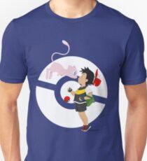 Gake no ue no Mew V.4 (White Pokeball) T-Shirt