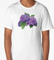 Purple Hydrangea Long T-Shirt