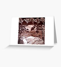Delta Dawn - Copper Plate Etching Greeting Card