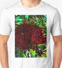Red Flower in the Shadows and Bright Green Leaves T-Shirt