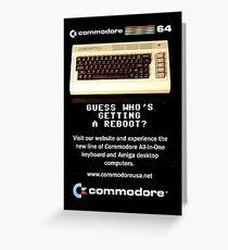 Commodore 64 Retro Computer Greeting Card