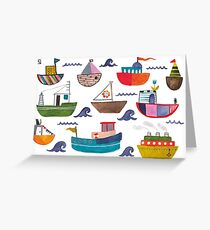 So many boats! Greeting Card