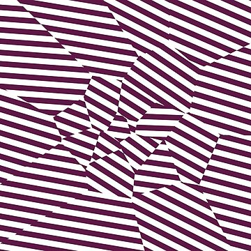 Mulberry Strip - Voronoi Stripes by EsqueDesign