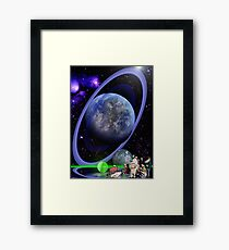 Dr. Sulaiman Omar and the Ringed World of Zia Framed Print
