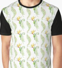 Tropical leaves seamless pattern, exotic monstera jungle print Graphic T-Shirt