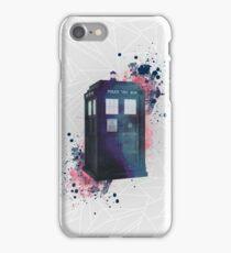 Doctor Who - TARDIS - geometrical - watercolor iPhone Case/Skin