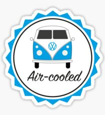 Blue VW Camper split screen air-cooled Sticker