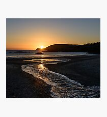 Sunset over Ownahincha beach, Rosscarbery, County Cork, Ireland Photographic Print