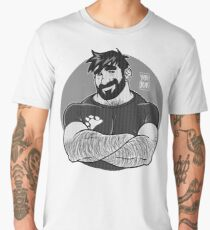 ADAM LIKES CROSSING ARMS - BLACK Men's Premium T-Shirt