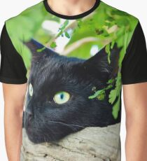 Green eyes among green ferns Graphic T-Shirt