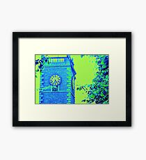 Abstract Tower Blue &Yellow Framed Print