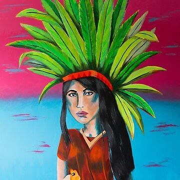 Wah Kah Nee Goddess by katiemaryart