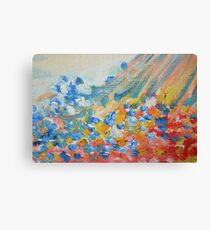 Pretty Pastel Abstract Oil Painting Canvas Print
