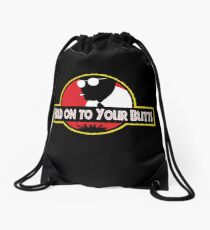 Hold on to Your Butts Drawstring Bag