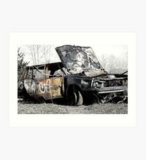 Rust Waggon Art Print