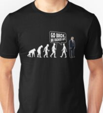 Funny Evolution Go Back T Shirt  - Cool Anti Trump Shirts T-Shirt