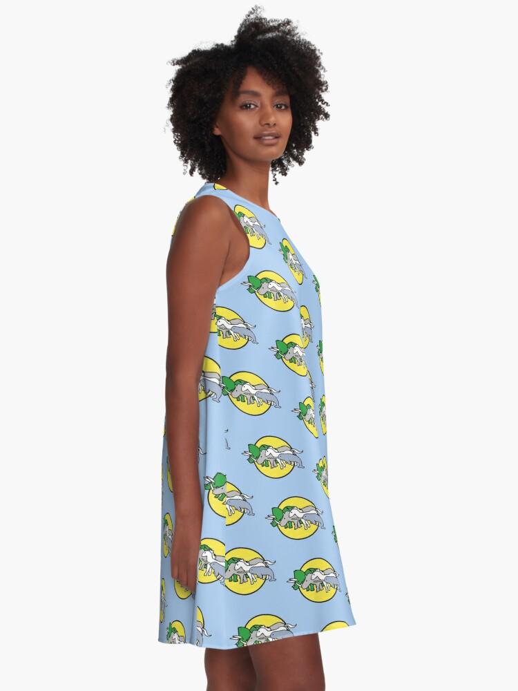 Alternative Ansicht von Gehörnte Kriegerfreunde A-Linien Kleid