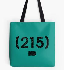 Area Code 215 Pennsylvania Tote Bag