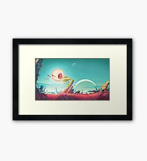 Screaming sun - Rick and Morty and No man's Sky crossover Framed Print