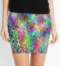 Puzzled (spectrum) Mini Skirt