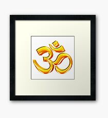 3D Hindu Om Symbol for Yoga Framed Print