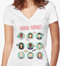 Brooklyn Nine-Nine Squad Women's Fitted V-Neck T-Shirt