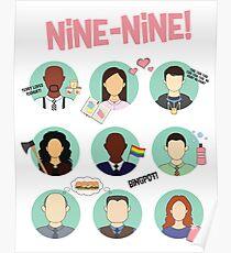 Brooklyn Nine-Nine Squad Poster