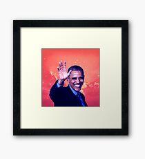 Obama - Coloring Book Framed Print