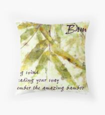 Bamboo In A Gentle Rain....strong wind Throw Pillow