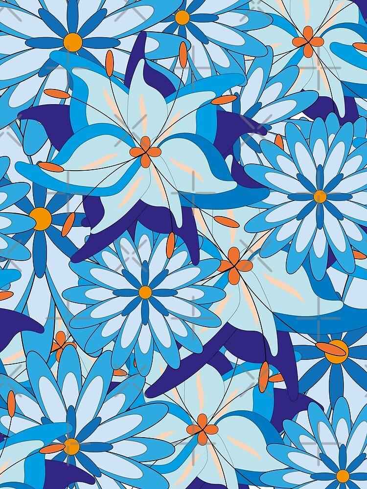 Blue Flower Power von WACHtraum
