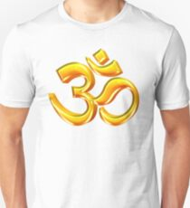 3D Hindu Om Symbol for Yoga T-Shirt