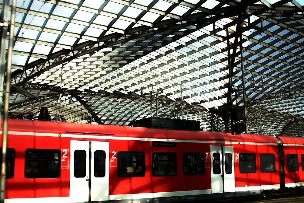 Train in station by Carrie Norberg