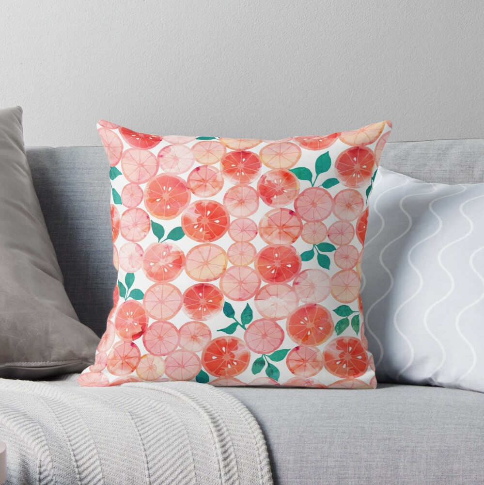 Bright summer fruit Throw Pillow