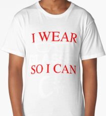 I Wear Glasses So I Can C# Programmer Developer Coder Geek T-shirt Meme joke shirts Long T-Shirt