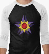 Geometric Water Type Pokemon Design - Starmie Men's Baseball ¾ T-Shirt
