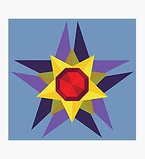 Geometric Water Type Pokemon Design - Starmie Photographic Print