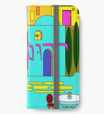 Hanukkah in Jerusalem in Jewel tones iPhone Wallet