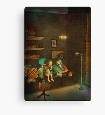 Movie night Canvas Print