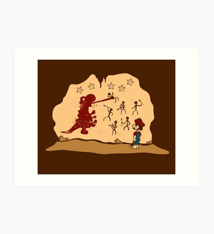 Mario Cave Paint Art Print