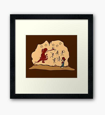 Mario Cave Paint Framed Print