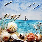Sculptured Shell Art by Robin Monroe