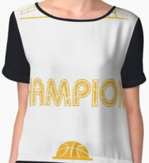 Golden State Champions with Golden Gate Bridge 2017 T-Shirt Women's Chiffon Top